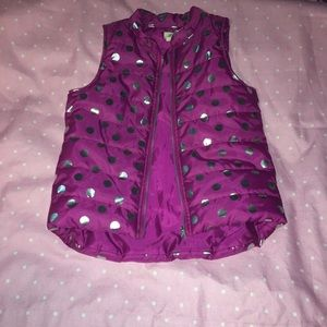 Young girls poka dot vest